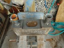 水鉢落とし込み加工